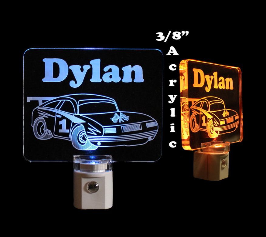 Race Car Personalized LED Night Light