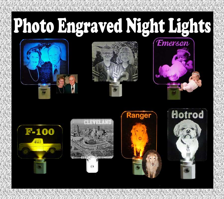 Personalized Photo Etched LED Night Light