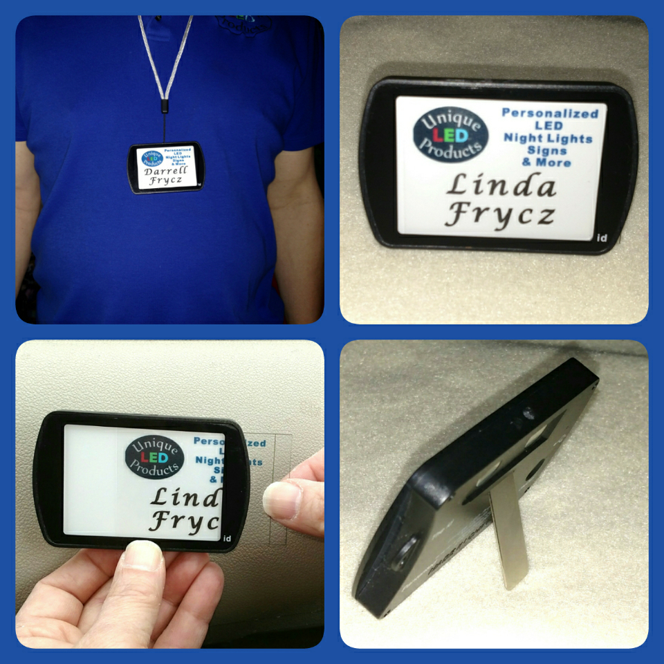 Rechargeable LED Name tag