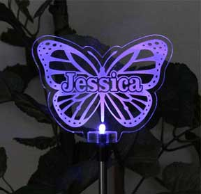 Personalized Butterfly Solar Light