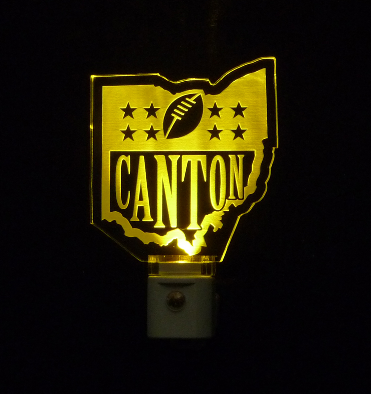 Canton Football Ohio LED Night Light