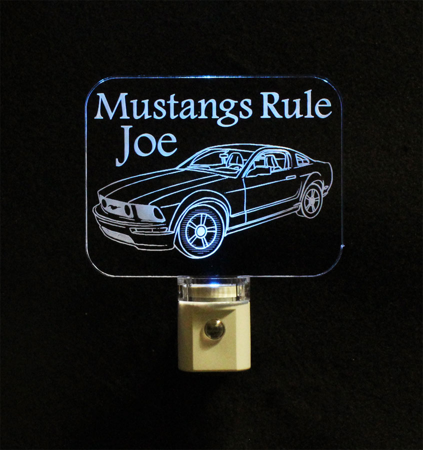 Ford Mustang Personalized  LED Night Light