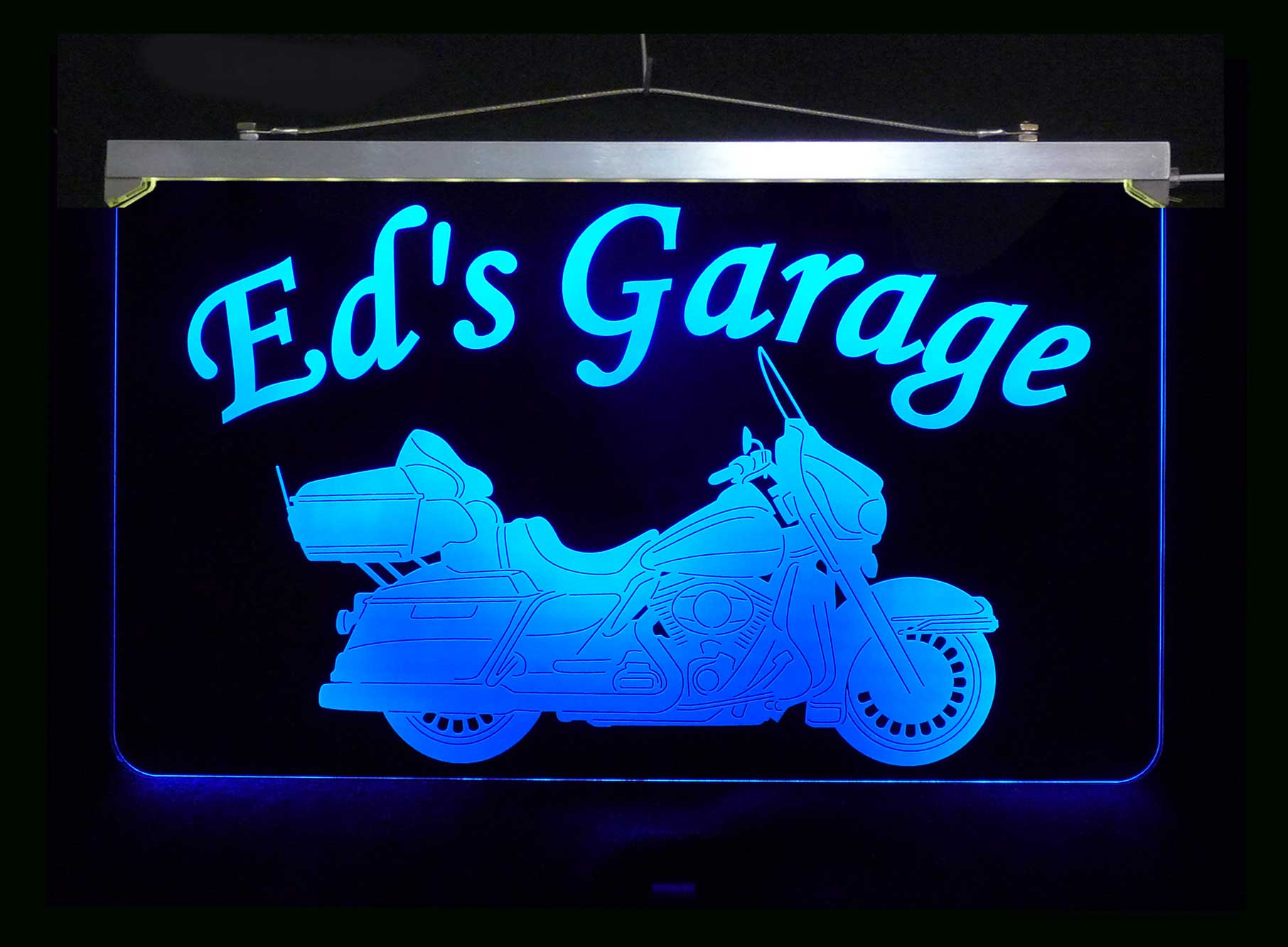 Motorcycle Sign, Personalized LED Garage Sign