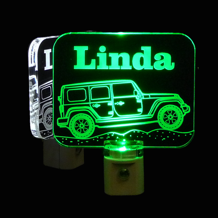 Jeep Personalized LED Acrylic Night Light