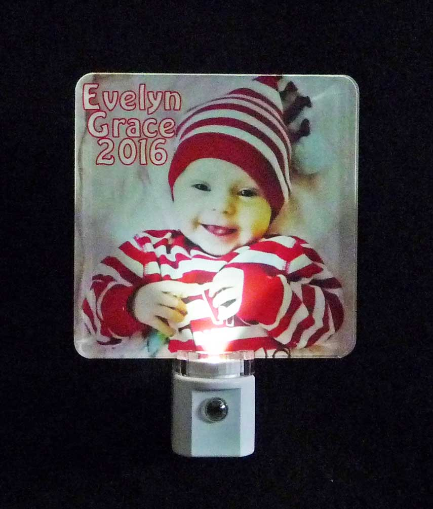 Full Color Personalized Photo Night light - UV Printed