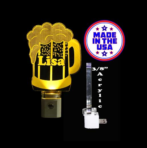 Beer Mug Personalized LED Night Light