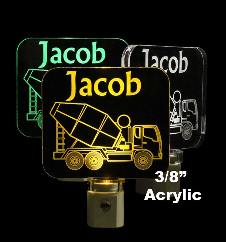 Cement Truck Personalized LED Night Light - Lamp
