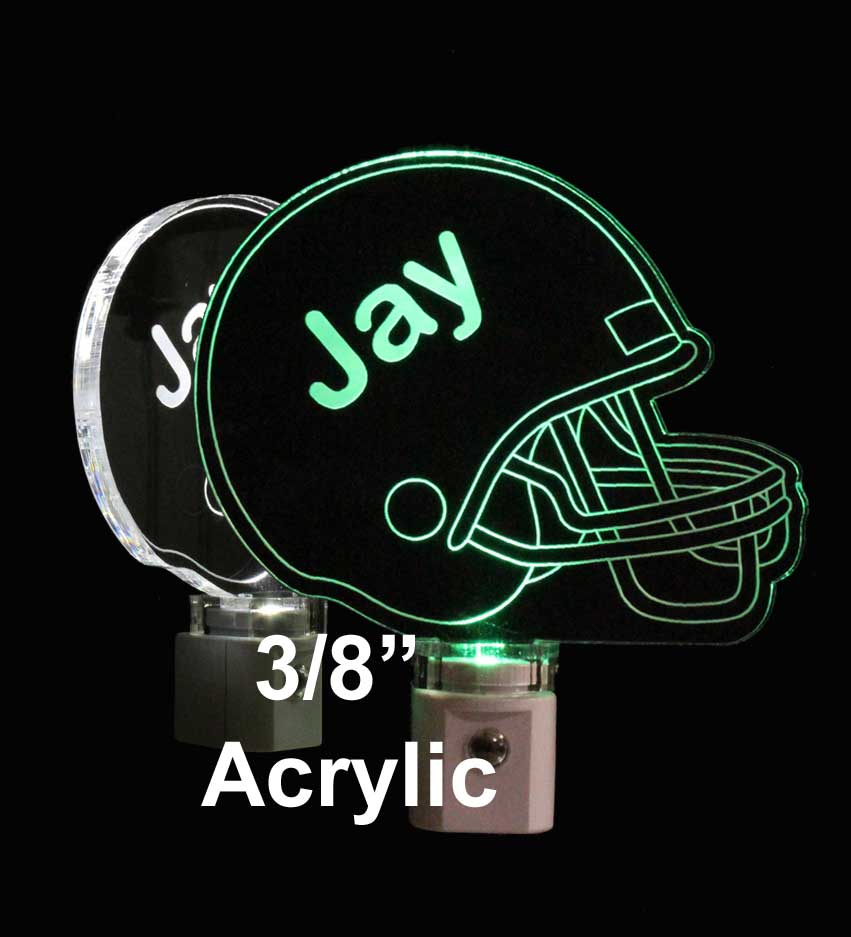 Personalized  Football Helmet LED Night Light with name