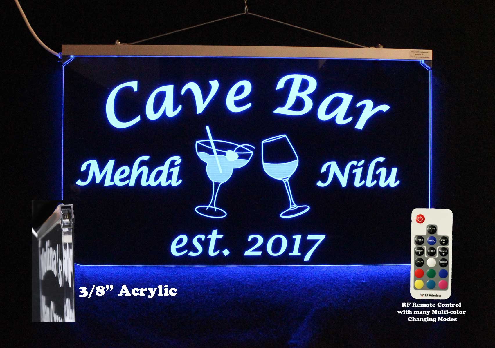 Bar Sign, Wine Glass, Margarita Glass, Pub Sign - Neon LED