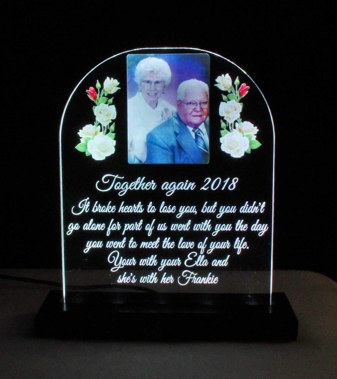 USB - 110V Personalized Full Color Photo UV Printed LED Acrylic Sign