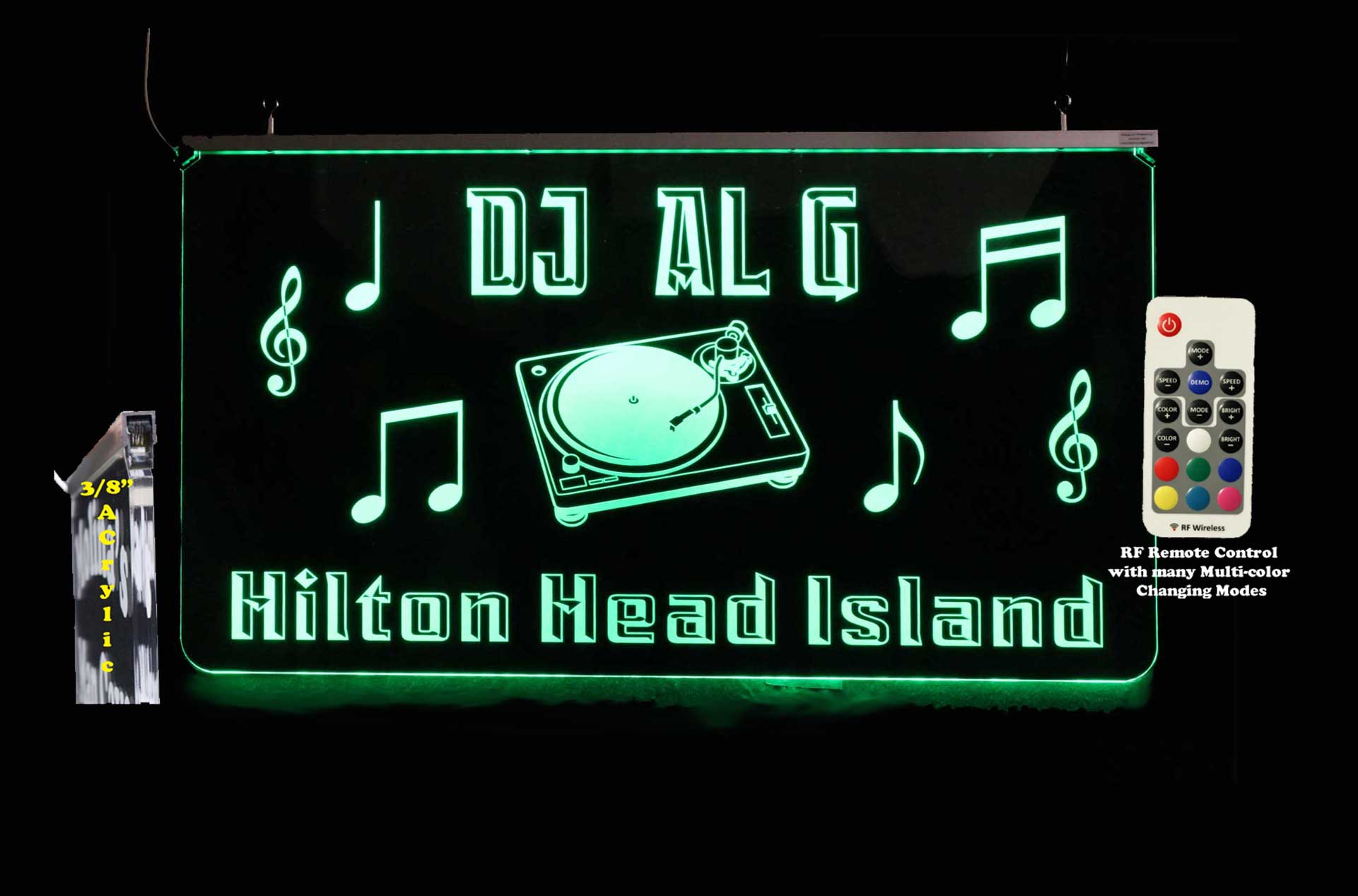Personalized DJ Sign - LED Man Cave, Bar Sign- Color Changing Neon sign