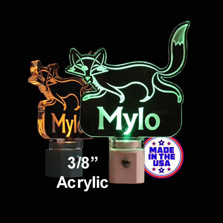 Fox Night Light Personalized LED Lamp