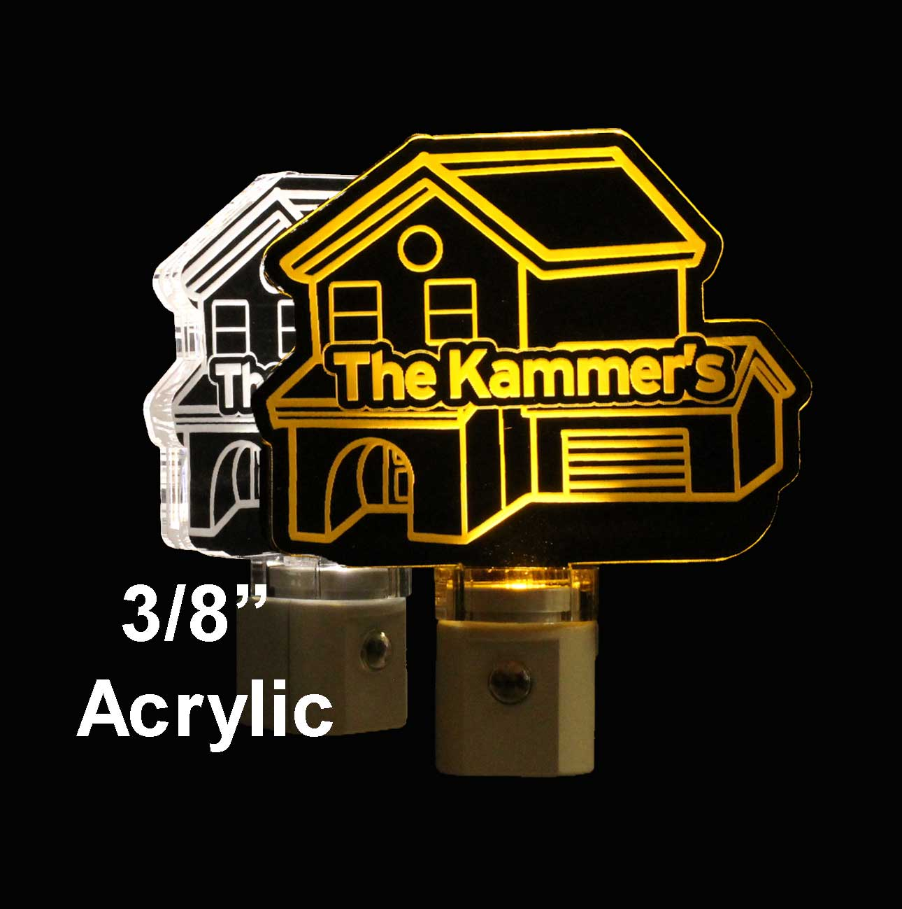 Personalized House LED Night Light