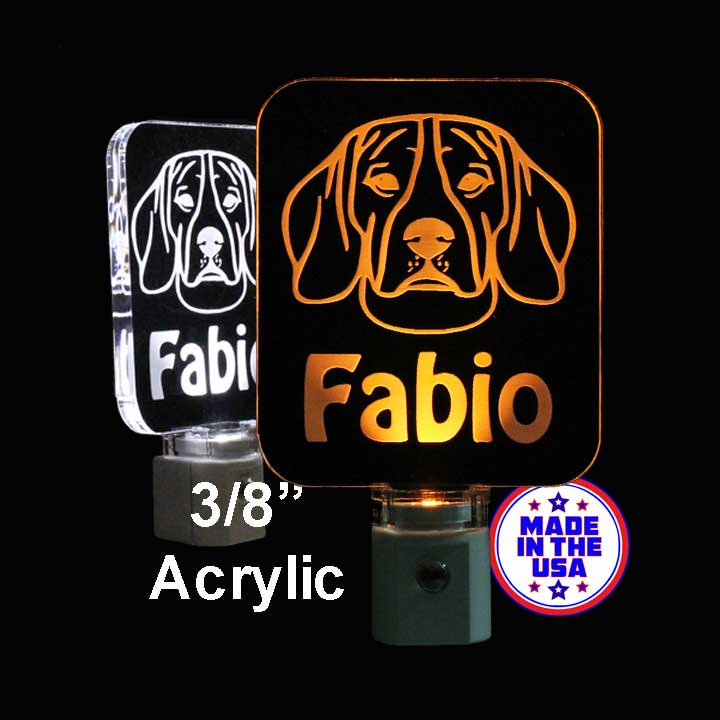 Kids Personalized Beagle LED Night Light