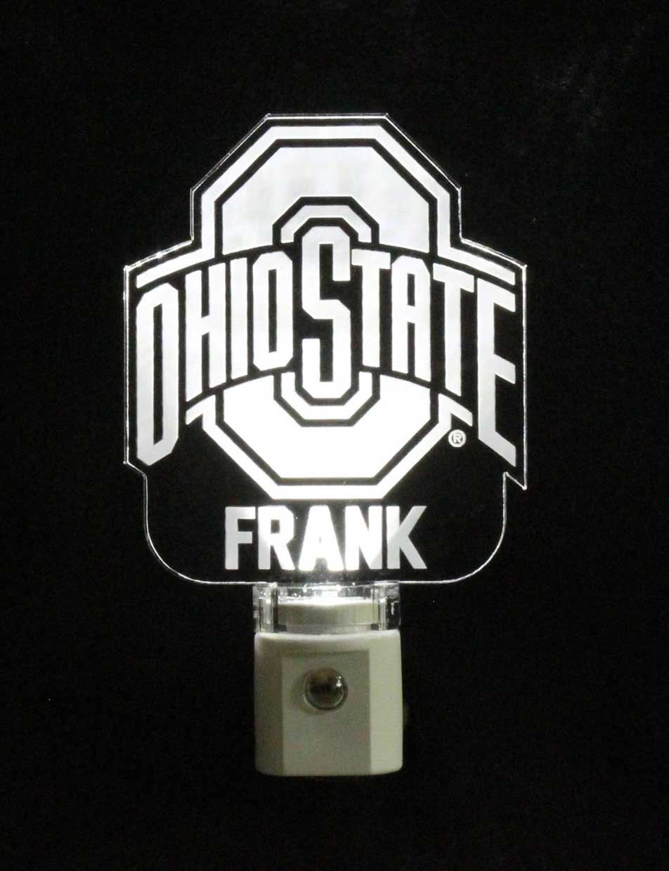 Ohio State Licensed Night lights Athletic Logo