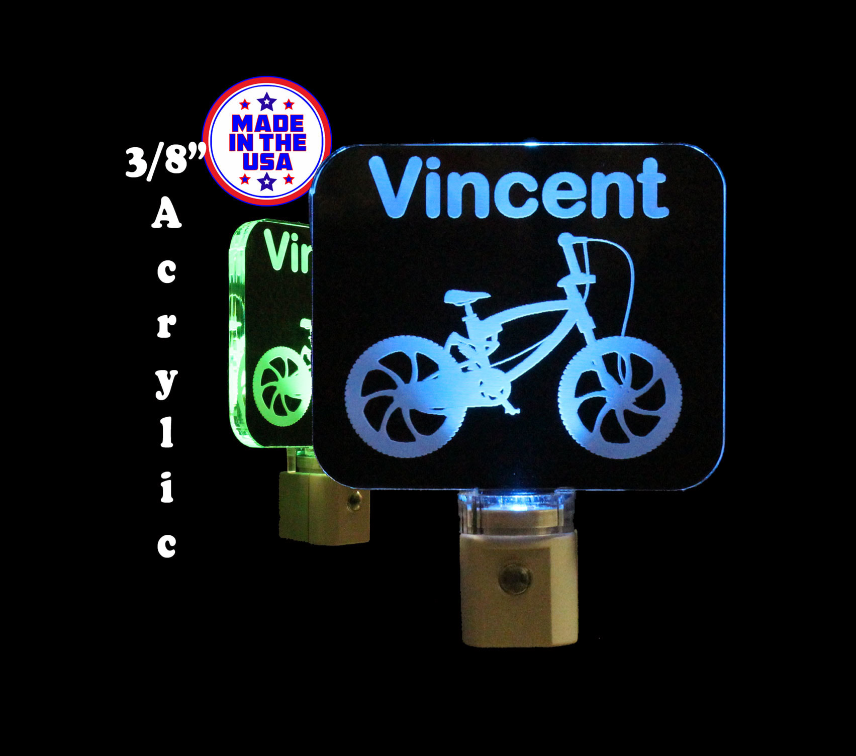 Kids Personalize Bike LED Night Light