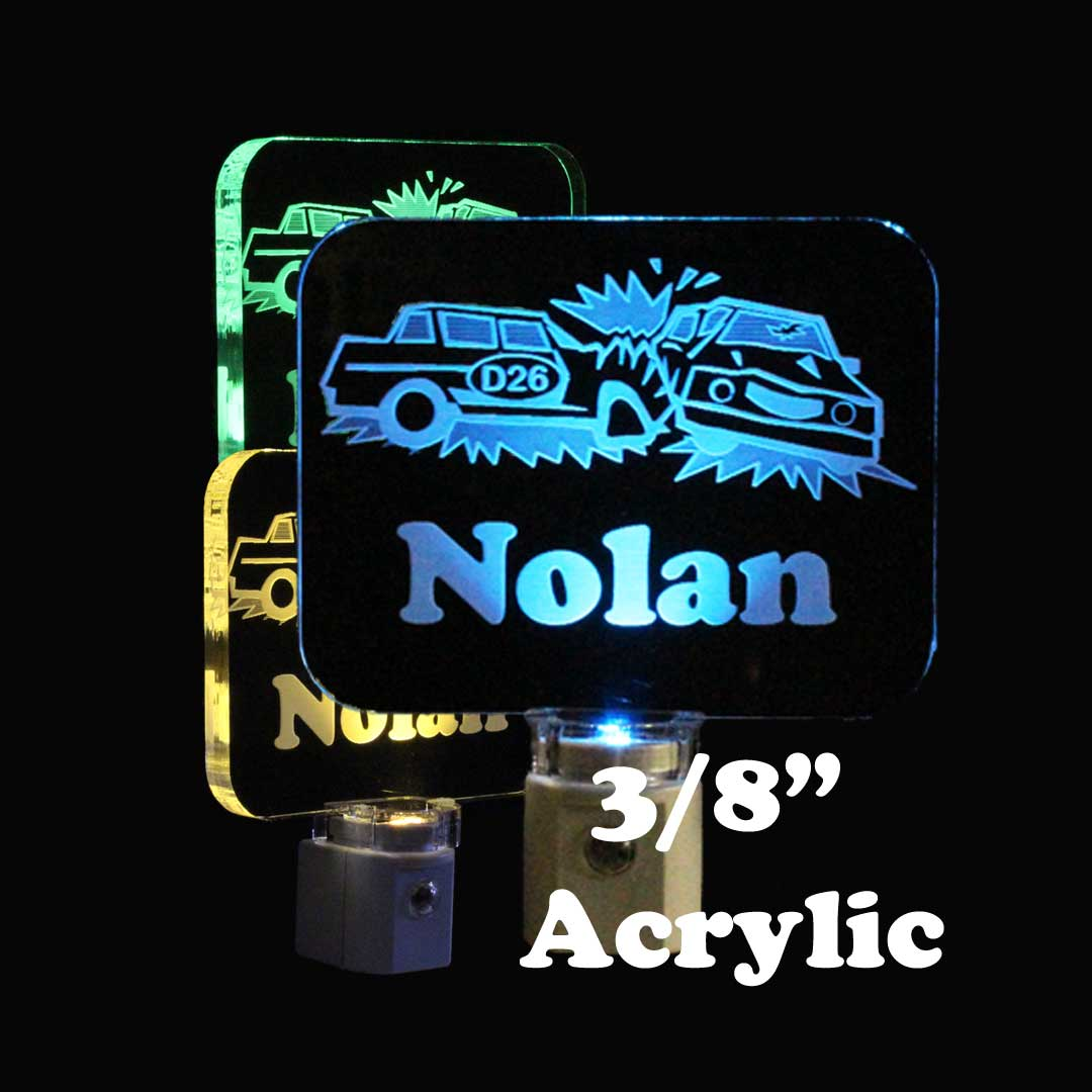 Demolition Derby Personalized Night Light