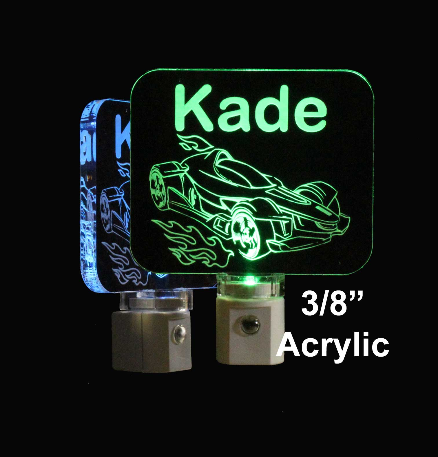 Kid Personalized Racecar Night Light