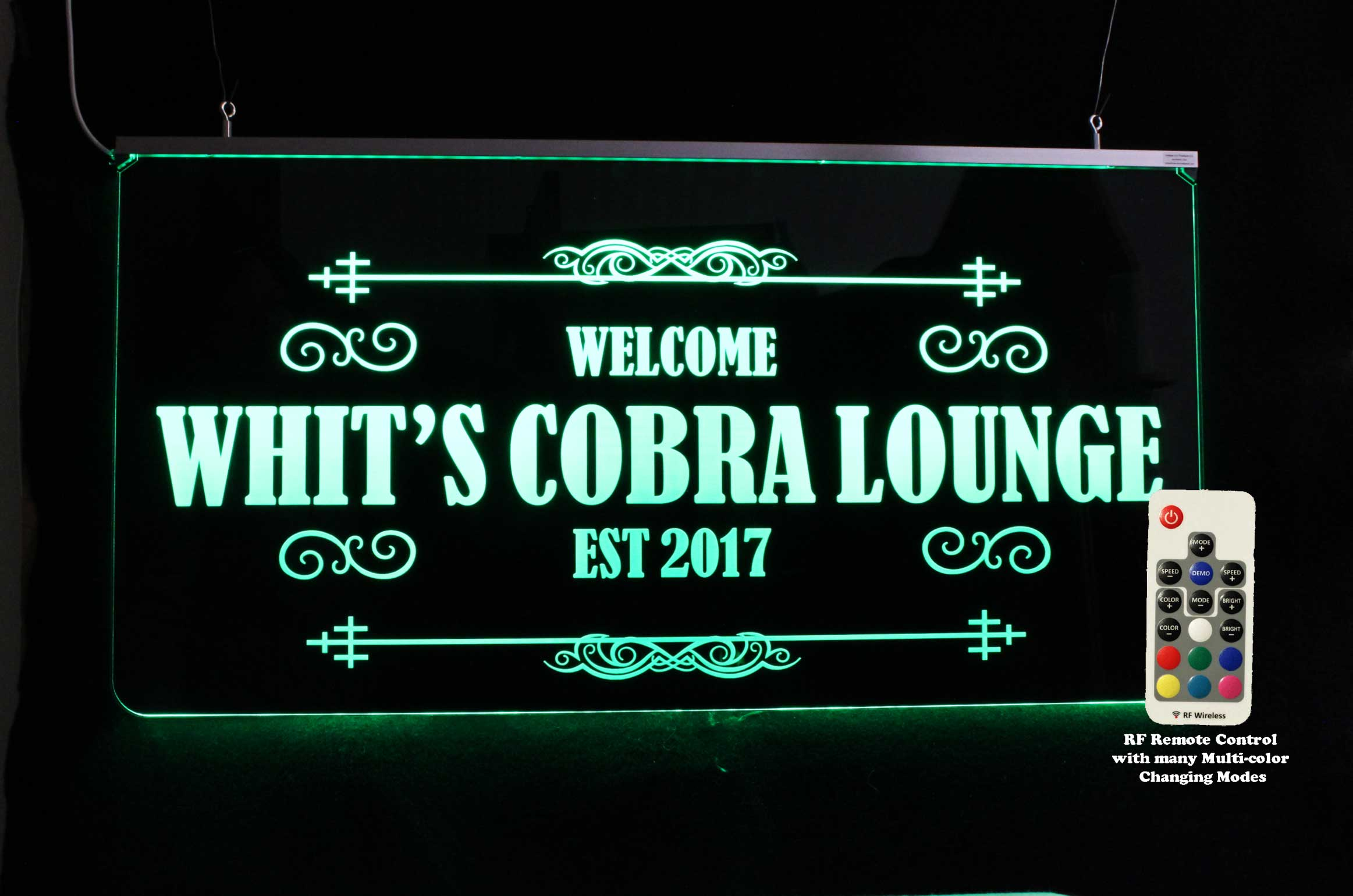Personalized Man Cave Sign, Lounge sign, LED