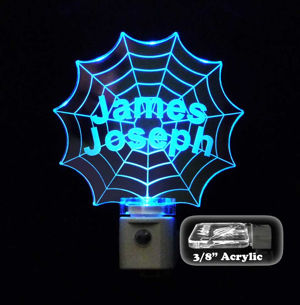 Spiderweb Personalized Night Light