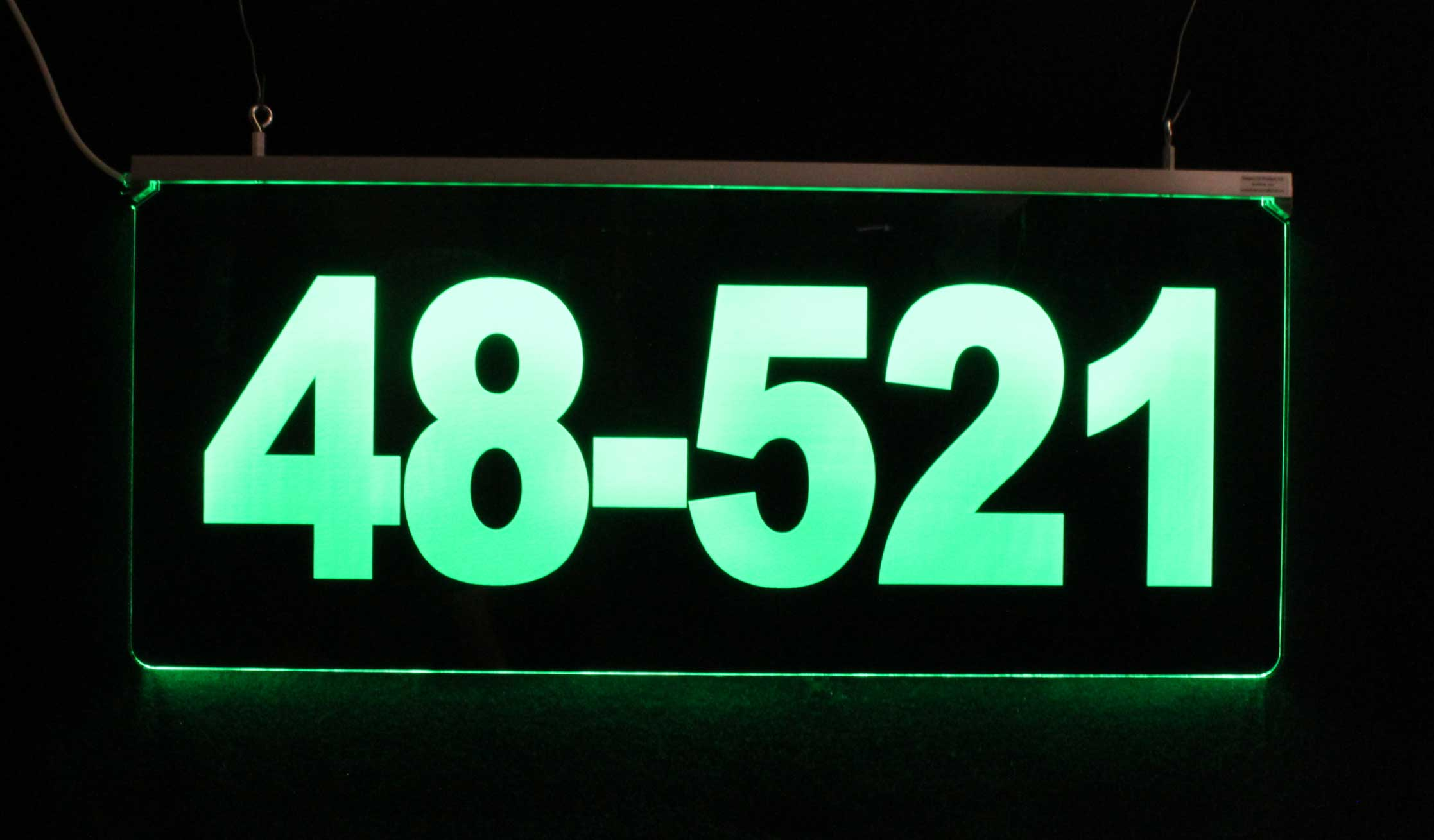 Lighted Address Sign - LED