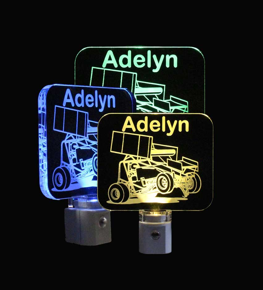 Sprint Car Personalized LED Night Light