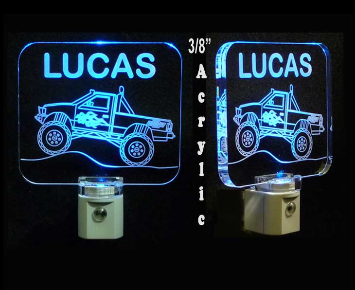 Personalized Monster Truck Night Light