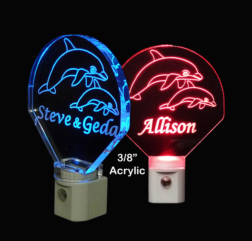 Personalized  Dolphin LED Night Light