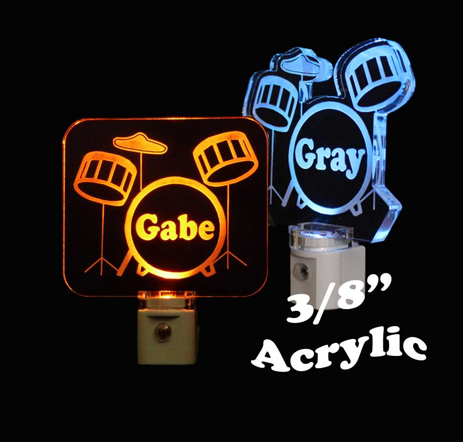 Kids Personalized  Drum Set Night Light