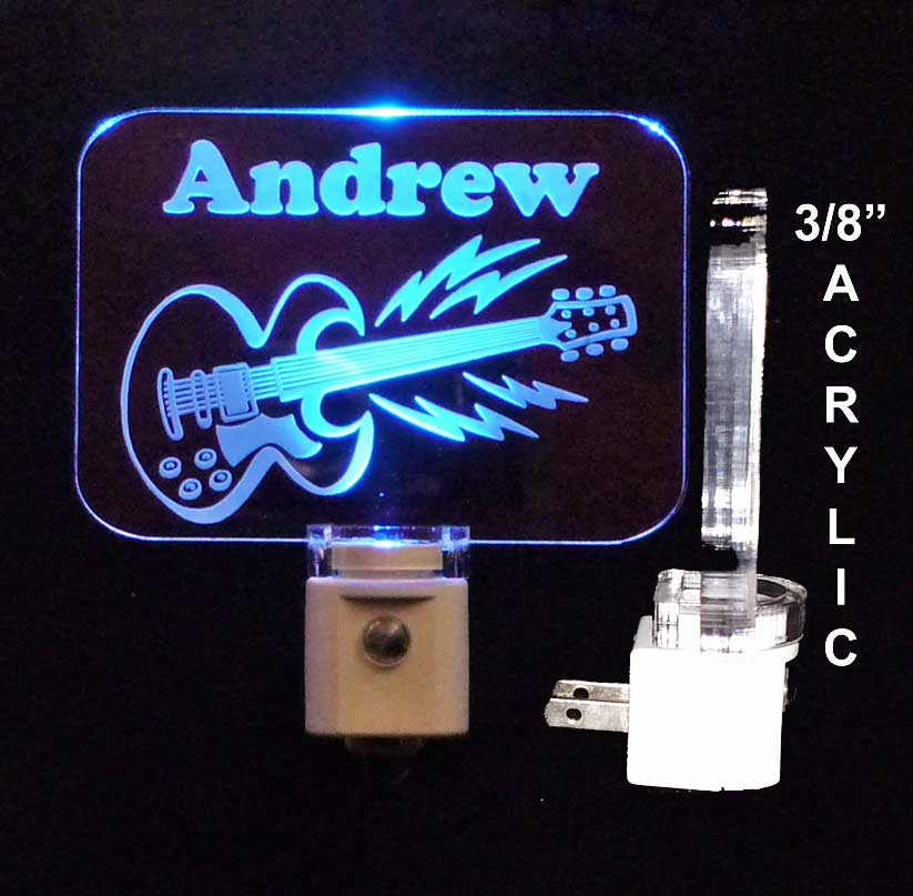 Personalized  Guitar Night Light