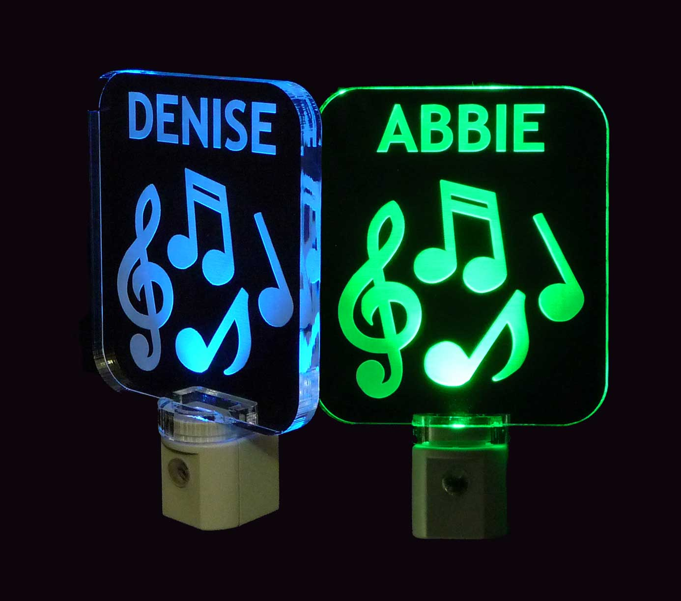 Personalized  Musical Notes Night Light