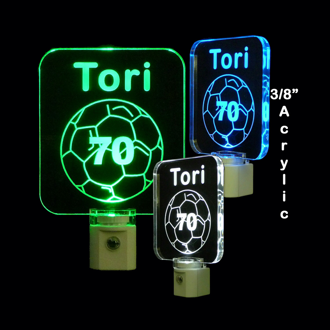 Kids Personalized Soccer Ball LED Night Light