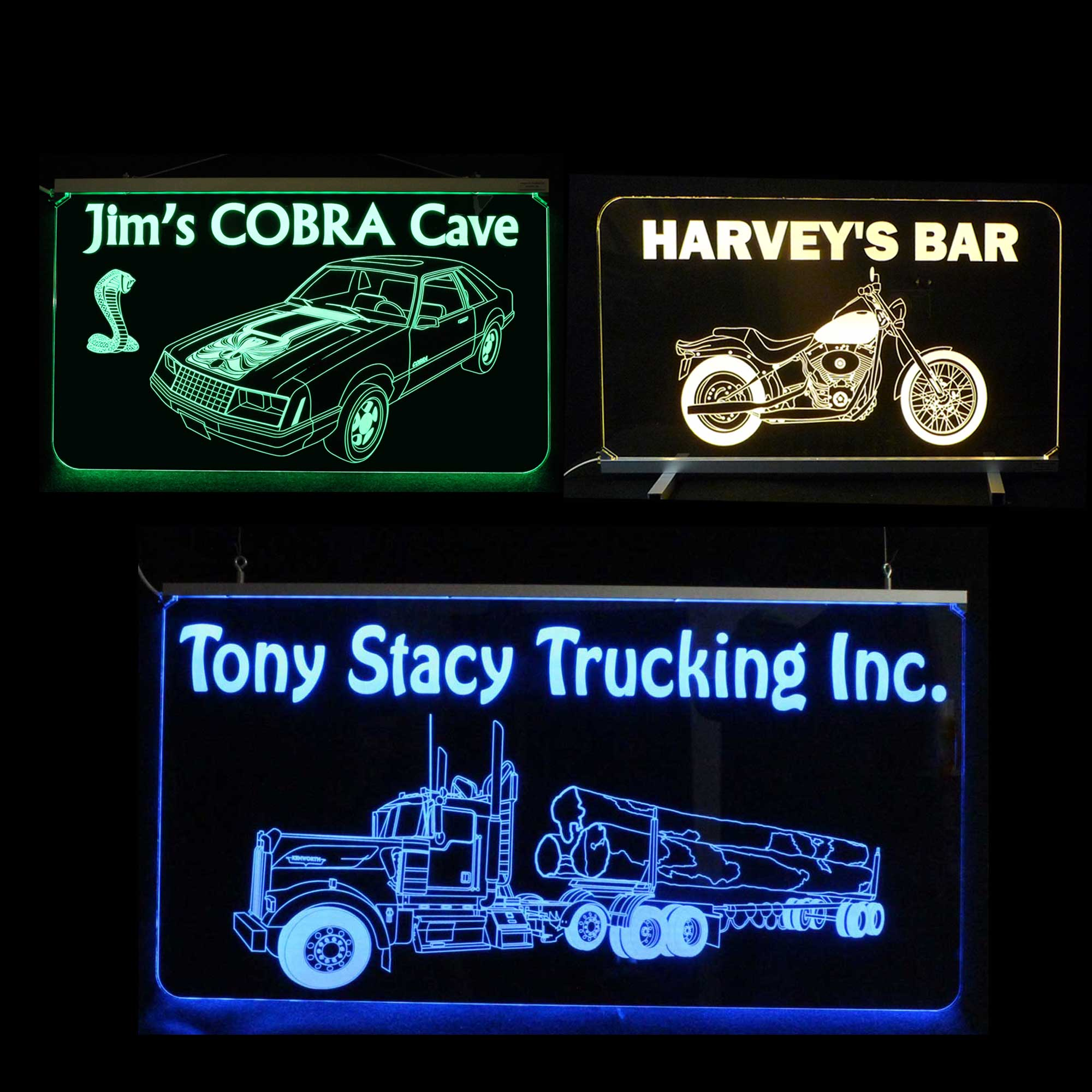 Vehicle Themed Signs